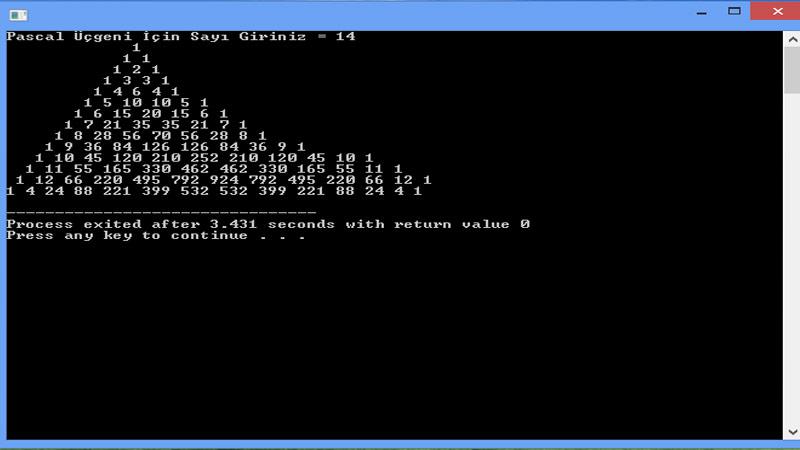 C Programlama da For Döngüsü Örnekleri